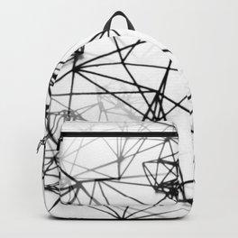 Geometric himmeli ornaments as minimal seamless pattern Backpack