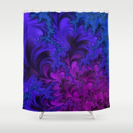 Midnight Insanity Fractal  Shower Curtain