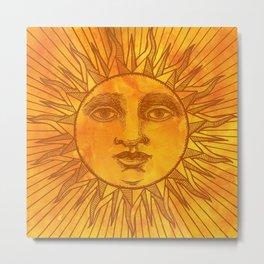 Sun vintage orange Metal Print