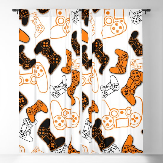 Video Games Orange on White by ts55