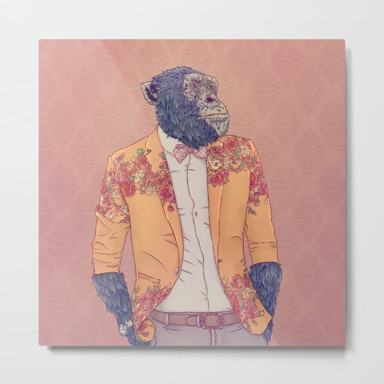 Alvin the Ape Metal Print