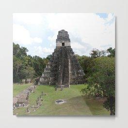 Tikal Mayan Ruins Guatemala Metal Print