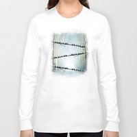 agnes Long Sleeve T-shirts featuring Barricade by Viviana Gonzalez