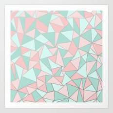 Ab Out Mint and Blush Art Print