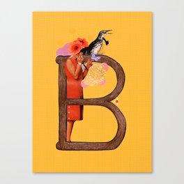 "A TO Z - ""B"" Canvas Print"
