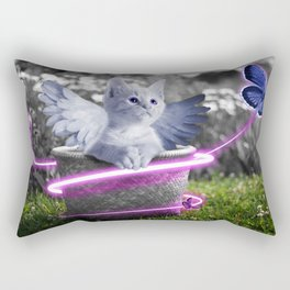 Cute Kitty with Angels Wings Rectangular Pillow
