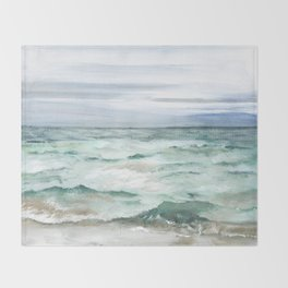 Oceanscape of Anna Maria Island Florida. Throw Blanket