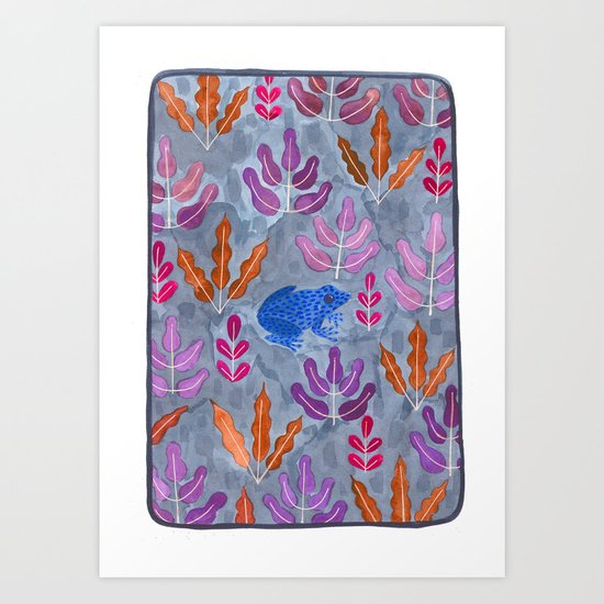 Jungle frog Art Print