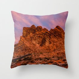 Sunrise Glow - Valley of Fire State Park Throw Pillow