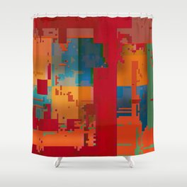 music of materials Shower Curtain