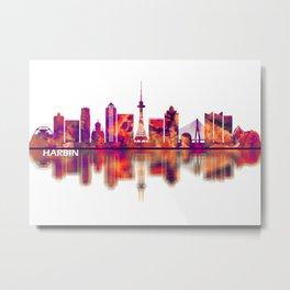Harbin China Skyline Metal Print
