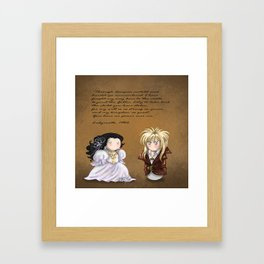 You have no power over me! Framed Art Print
