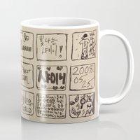 shinee Mugs featuring SHINee Pattern Doodle by keychu