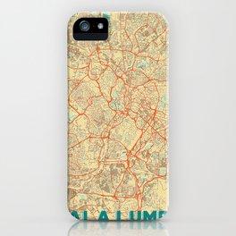 Kuala Lumpur Map Retro iPhone Case