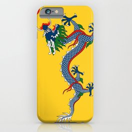 Chinese Dragon - Flag of Qing Dynasty iPhone Case