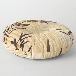 Japanese bamboo buddha wood art Floor Pillow