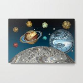 To The Moon And Beyond Metal Print