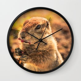 I wasn't going to eat it, I was just going to taste it Wall Clock
