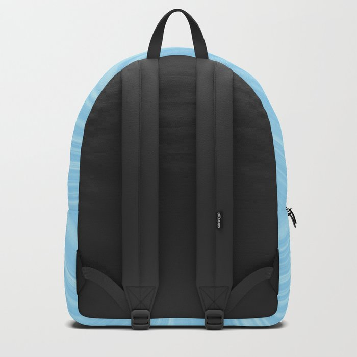 Blue wave abstract. Backpack