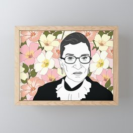 RBG Pink Floral Framed Mini Art Print