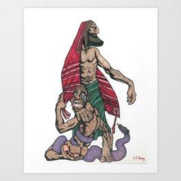 Crimson Avenger Art Print