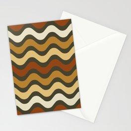 Boho Chic Retro Waves Stationery Cards