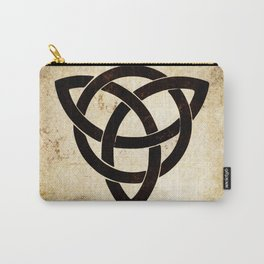 Celtic knot on old paper Carry-All Pouch