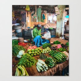 Pondicherry Market Canvas Print