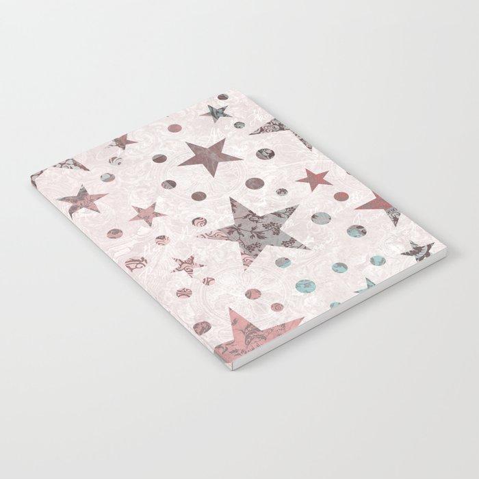 Pink Patchwork Stars Notebook