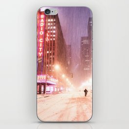 Snowstorm in New York City iPhone Skin