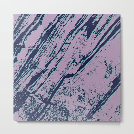 Lilac marble effect Metal Print
