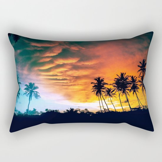 Beach Sunset Rectangular Pillow