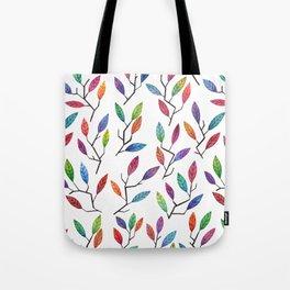 Leafy Twigs - Multicolored Tote Bag