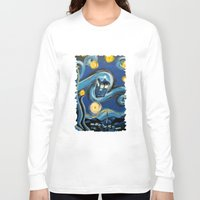 daenerys targaryen Long Sleeve T-shirts featuring Tardis Starry Night by DavinciArt