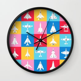 Classic Iconic Aircraft Pattern - International Wall Clock