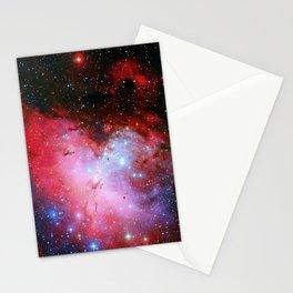 The Eagle Nebula Red Blue Galaxy Stationery Cards