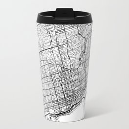 Toronto Map White Travel Mug