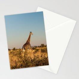 Giraffe on a Morning Walk Stationery Cards