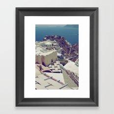 Santorini is for Lovers Framed Art Print
