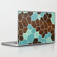 geode Laptop & iPad Skins featuring Geode in Blue by jefdesigns