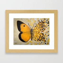 Butterfly effect yellow Framed Art Print