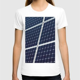 Image Of A Photovoltaic Solar Battery. Free Clean Energy For Everyone T-shirt