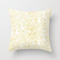 zodiac Throw Pillows featuring White Zodiac by Nina Y