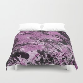 Abstract Texture Deux - Purple, White and Black Duvet Cover