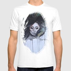 Nightmares Take Over MEDIUM White Mens Fitted Tee