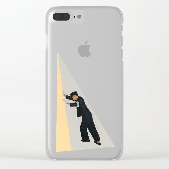 Pushing Boundaries Clear iPhone Case