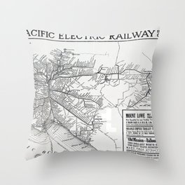 Pacific Electric Railway in Southern California Throw Pillow