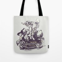 toy story Tote Bags featuring Toy Story by Alex Solis