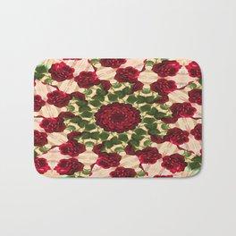 Old Red Rose Kaleidoscope 10 Bath Mat