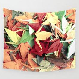 Senbazuru | reds n greens Wall Tapestry